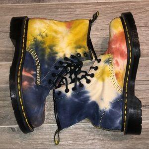 Tye Dye Dr. Martens 8 eyelet boot